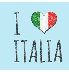 I love italia typography t-shirt graphics vector