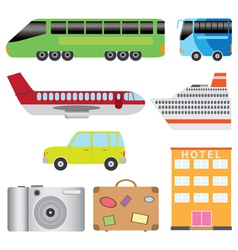 Transport and tourism vector
