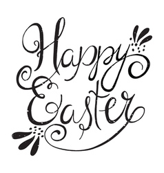 Easter wording vector