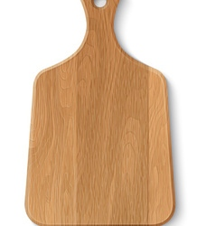 Realistic wooden cutting board vector