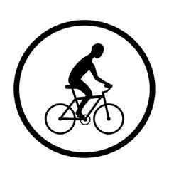 Man on bike silhouette vector