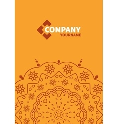 Cover template with floral background vector