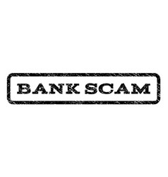 Bank scam watermark stamp vector