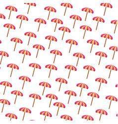 Beach umbrella summer pattern vector
