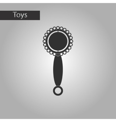 black and white style toy rattle vector image