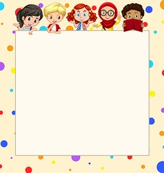 Blank banner with children vector