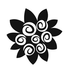 Bouquet of flowers simple icon vector