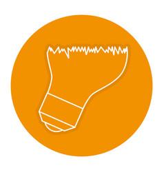 Bulb light broken icon vector
