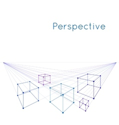 Cubes in perspective vector image