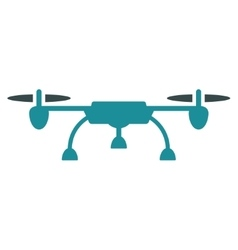 Drone flat icon vector