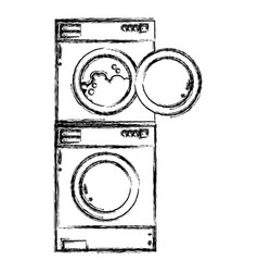 Figure electronic washing machine and dryer to vector