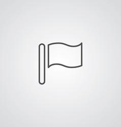 flag outline symbol dark on white background logo vector image