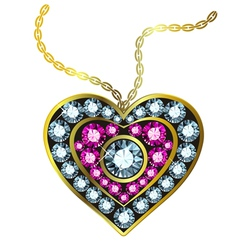 Gem Heart Pendant vector image