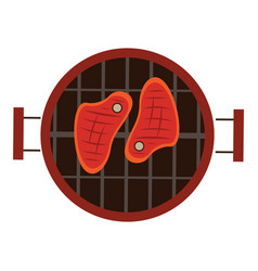 isolated grill vector image vector image