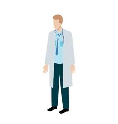 Isometric doctor character vector