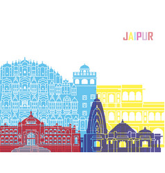 jaipur skyline pop vector image