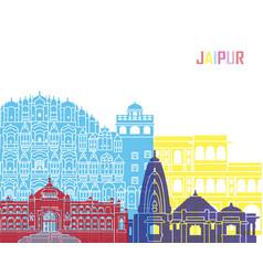 Jaipur skyline pop vector