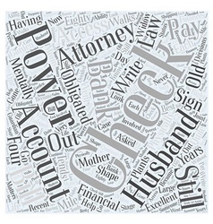 Power of attorney word cloud concept vector