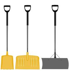 Snow shovel set vector image vector image