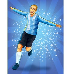 Soccer Player Celebrating Goal vector image