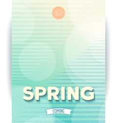 Spring abstract design poster vector image vector image