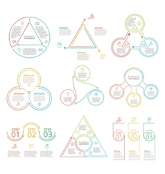 Thin line flat elements set for infographic vector image vector image