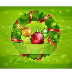 Christmas ornament holy wreath 10 v vector