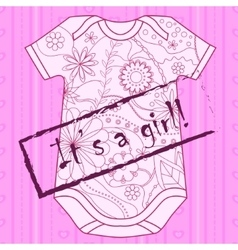 Its a girl card with stamp and body vector image