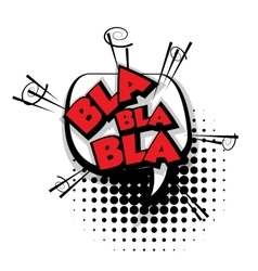 Comic text bla pop art bubble vector