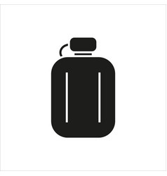hip flask simple icon on white background vector image