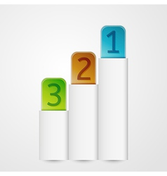 vertical banners with numbers vector image