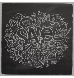 Sale hand lettering on chalkboard vector