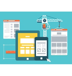 Development skeleton framework of a website vector