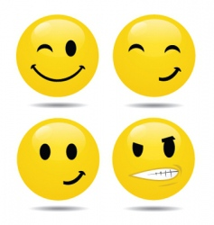 Smiley set2 vector
