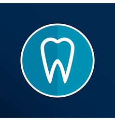 Icon toothache sign line clinic symbol whitening vector