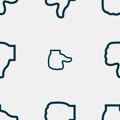 Dislike icon sign seamless pattern with geometric vector