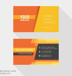 Design modern creative and clean business card vector
