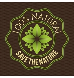Save nature ecology label vector