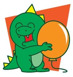 Dinosaur and Balloon vector image