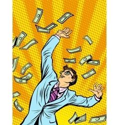 Businessman finance money fall vector