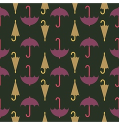 Retro seamless pattern of umbrella vector