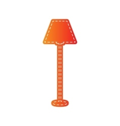 Lamp simple sign orange applique isolated vector