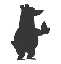 Polar bear wearing sunglasses and fan icon vector