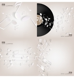 Abstract musical background with notes Music vector image vector image
