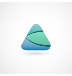 Abstract water triangle logo Technology web vector image