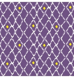 Brush stroke seamless purple mesh pattern vector image
