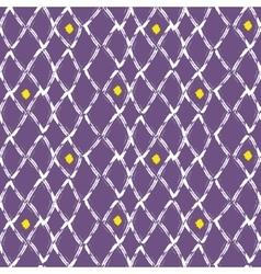 Brush stroke seamless purple mesh pattern vector image vector image