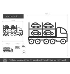 Car carrier line icon vector