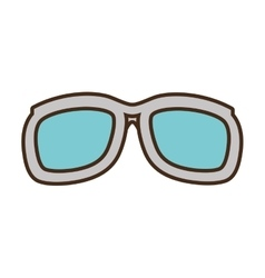 Cartoon sunglasses accessorie travel vector