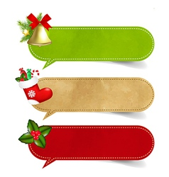 Christmas Speech Bubble Set vector image